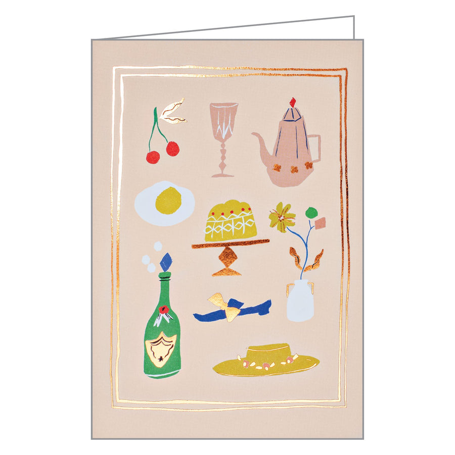 Sunday Brunch Foil Notecards