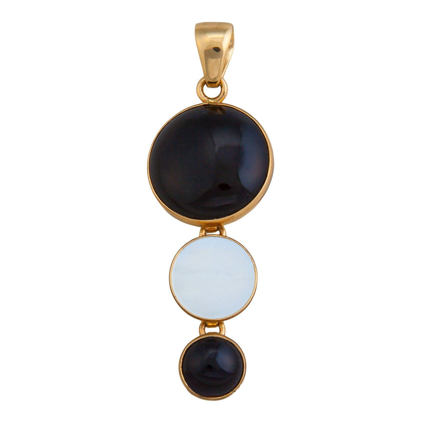 Alchemia Onyx and Mother of Pearl Pendant