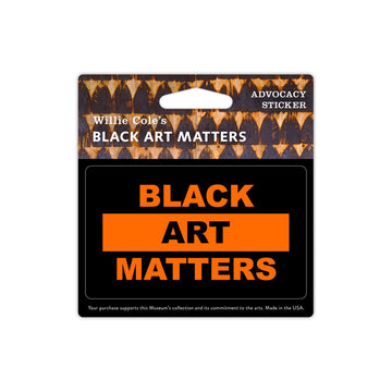 Willie Cole Black Art Matters Sticker