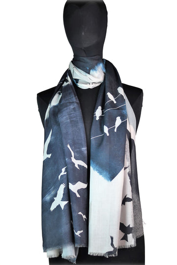 Bird Collage Scarf