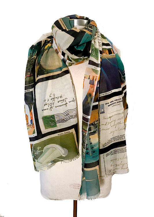 World's Fair Postcards Scarf