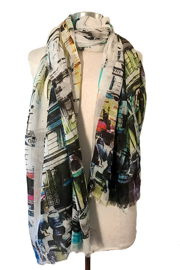 Colorful New York Scarf