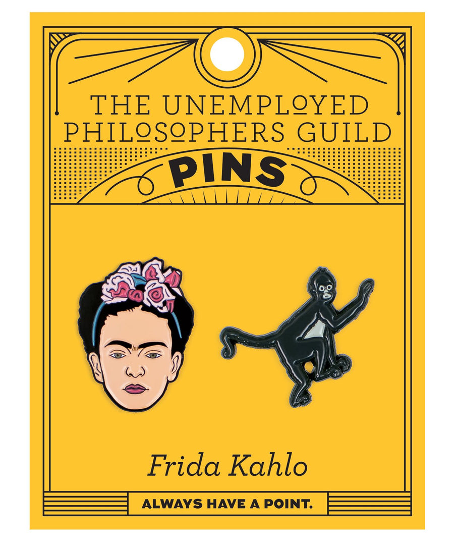Frida and Monkey Pins