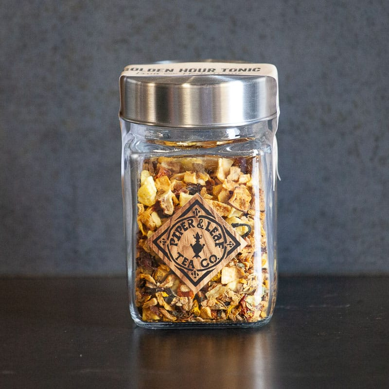 Golden Hour Tonic Glass Jar of Loose Tea
