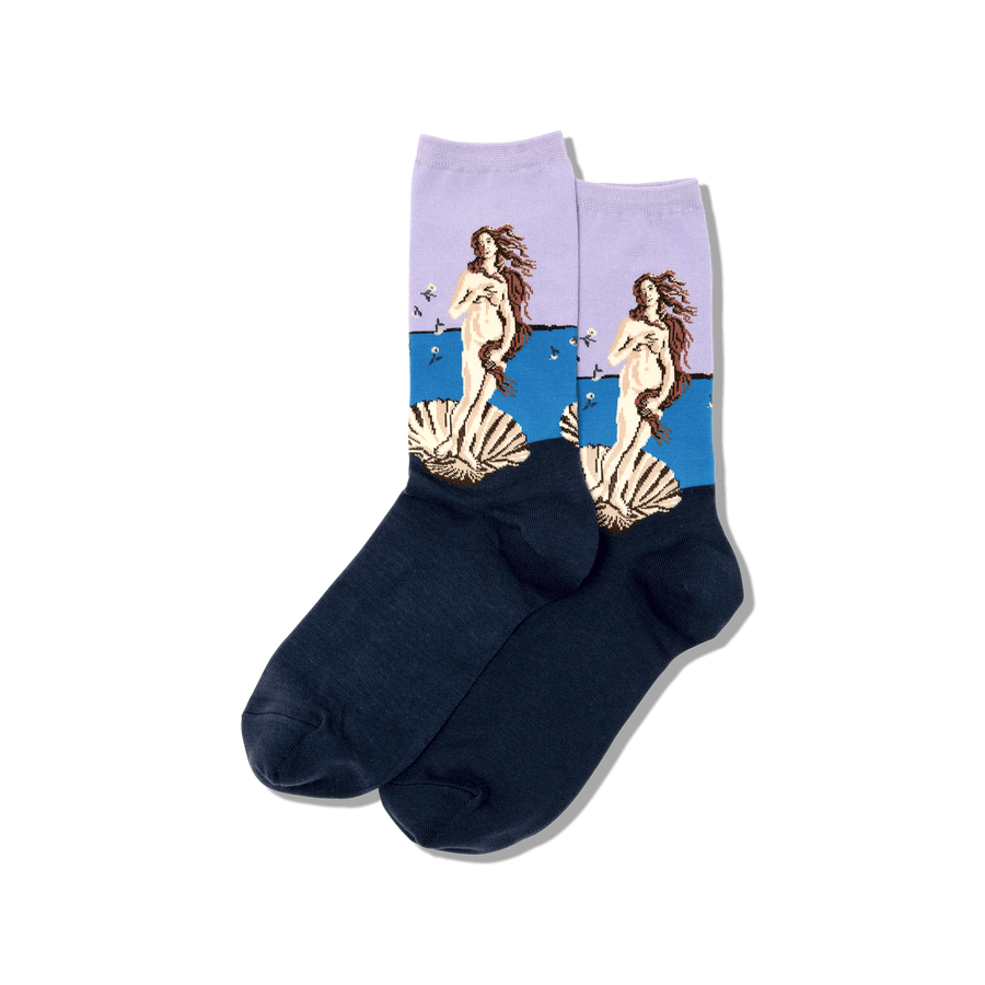 Women's Socks - Botticelli's Birth of Venus (Lavender)
