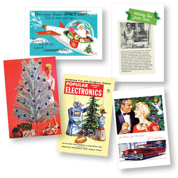Retro Holiday Card Set - Vintage Ads