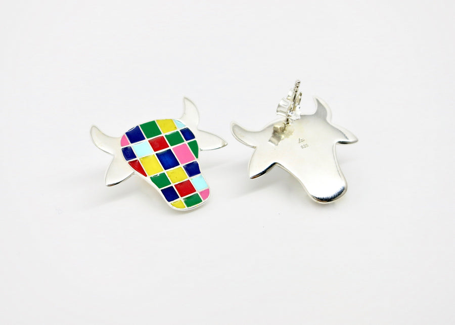 Folklore Sterling Cow Earrings