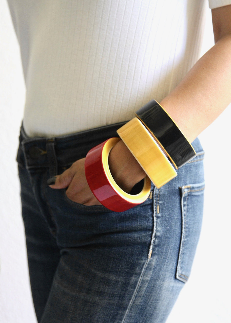 Channapatna Modernist Block Bangle