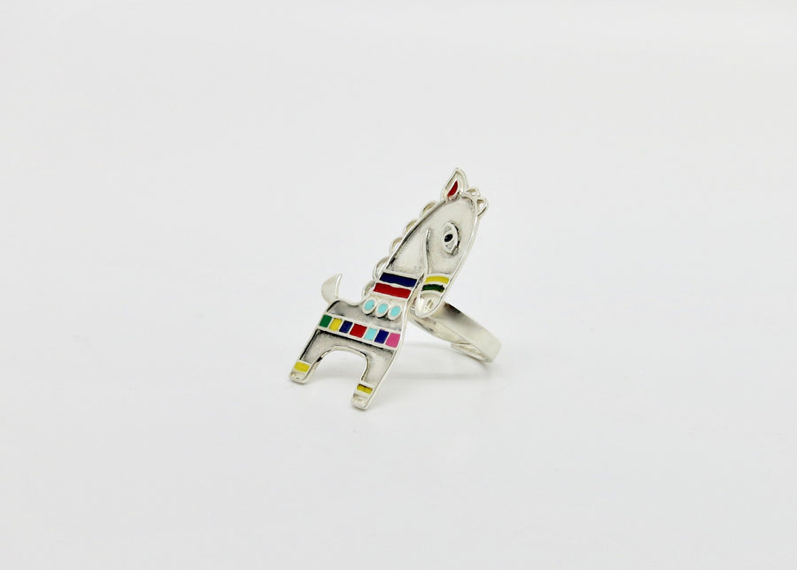 Folklore Sterling Horse Ring
