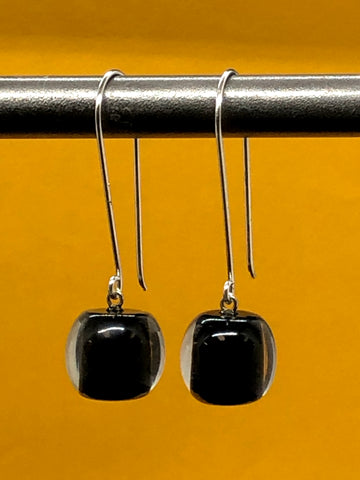 Two Tone Ball Earrings on Hook