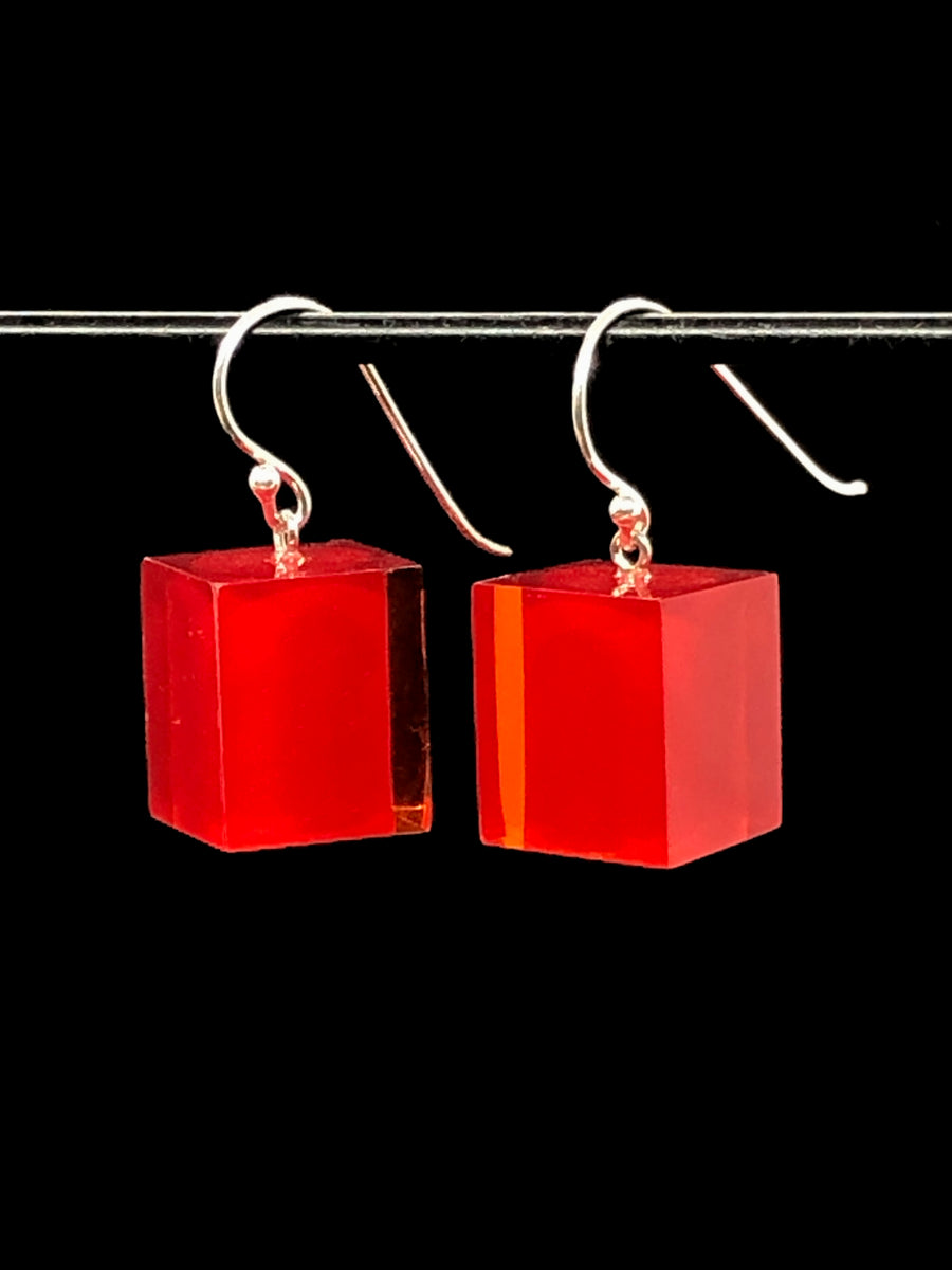 Large Cube Earrings on Hook