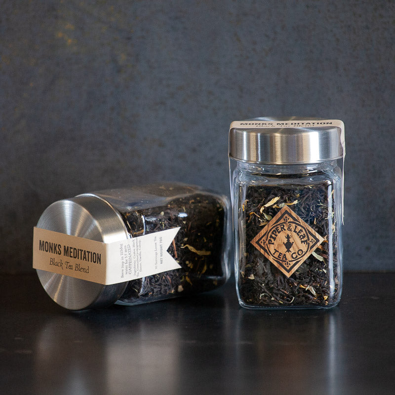 Monk's Meditation Glass Jar of Loose Tea