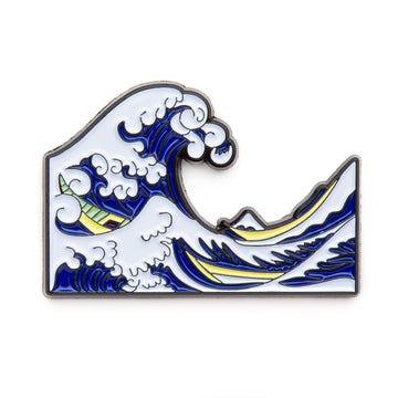 Hokusai Wave Enamel Pin