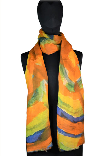 Vibrant Lines Scarf