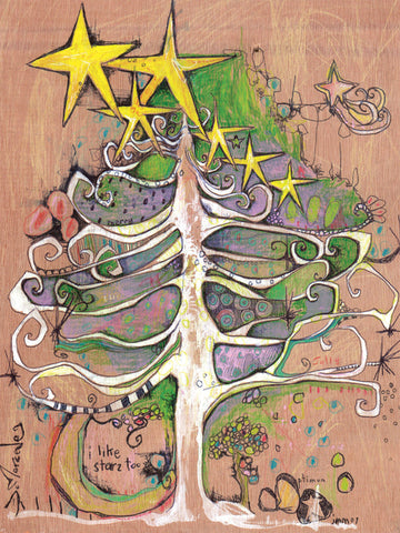 Star Tree Boxed Holiday Cards