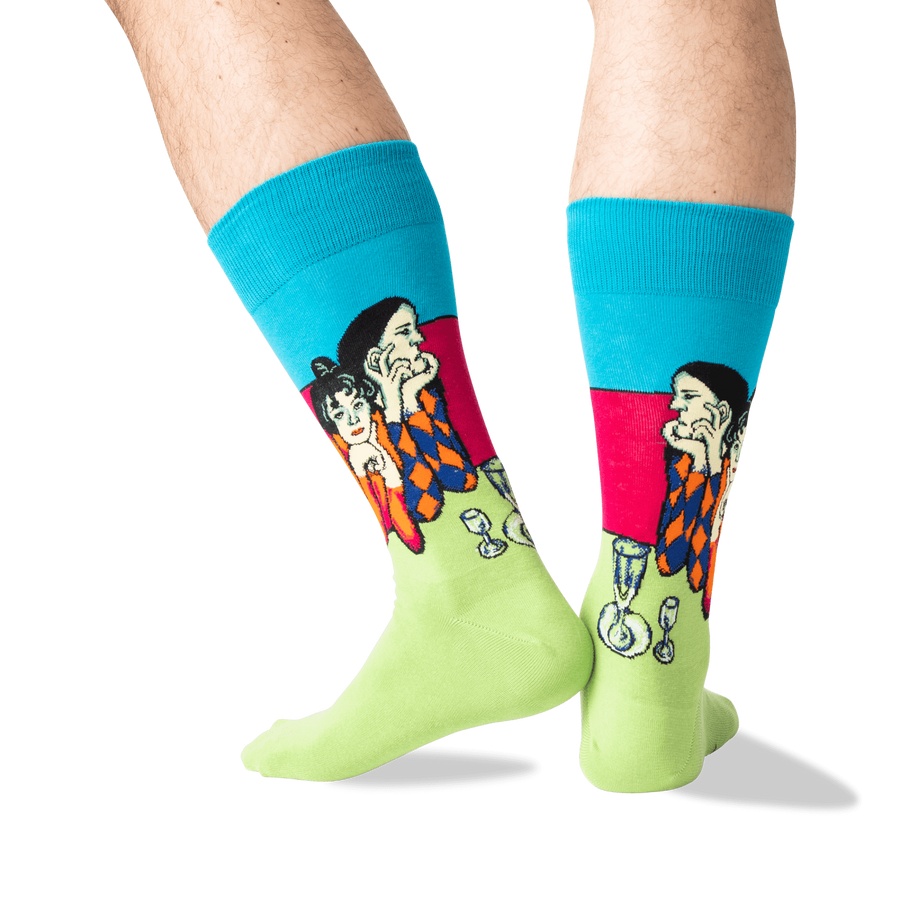 Men's Socks - Picasso's Two Acrobats
