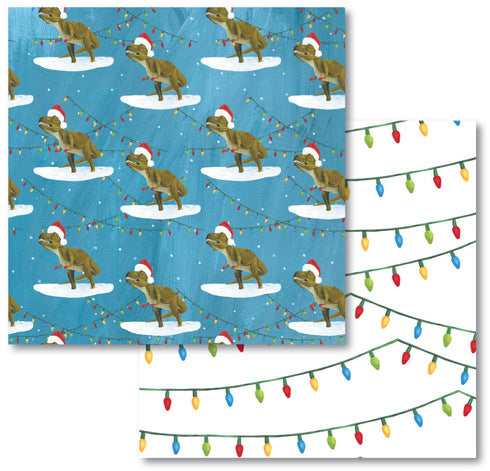 Dinosaur Lights Reversible Eco-Wrap