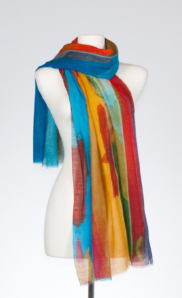 Scenic Silk and Merino Stole