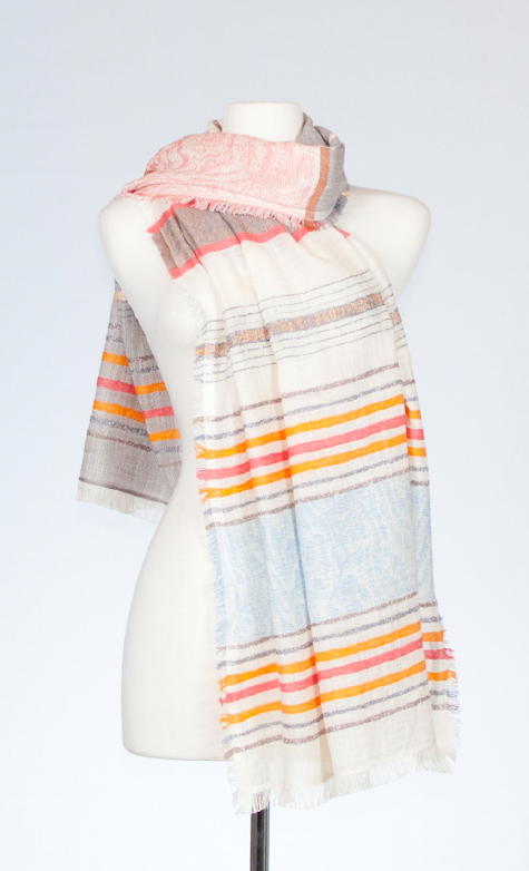 New Mexico Cotton Scarf with Textured Weave
