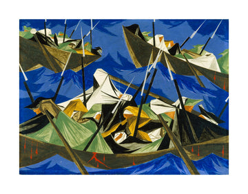 Jacob Lawrence Washington Crossing the Delaware Unframed Print