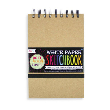 White Paper Sketchbook with D.I.Y. Cover