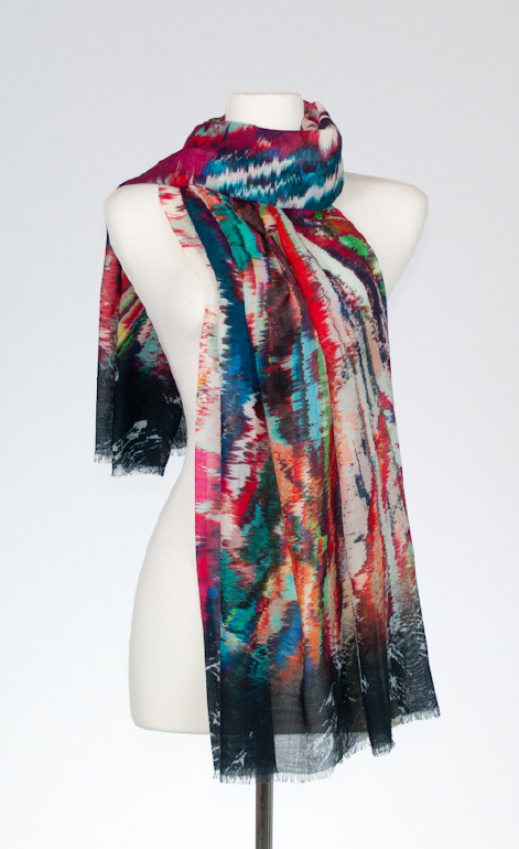 Toltec Merino and Silk Scarf
