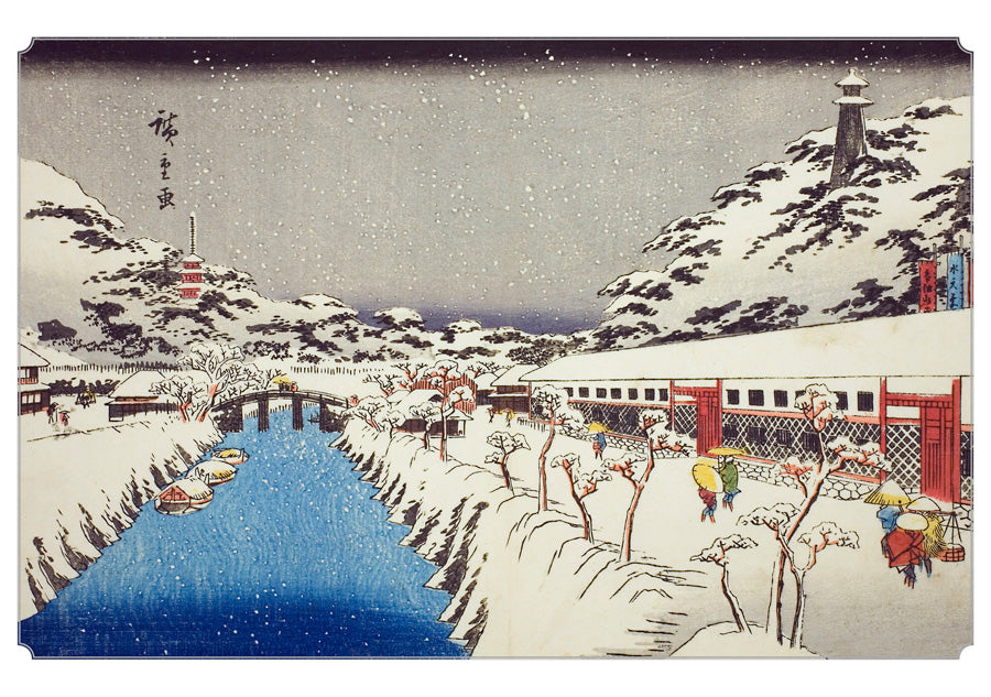 Hiroshige: Scenes of Winter Holiday Cards