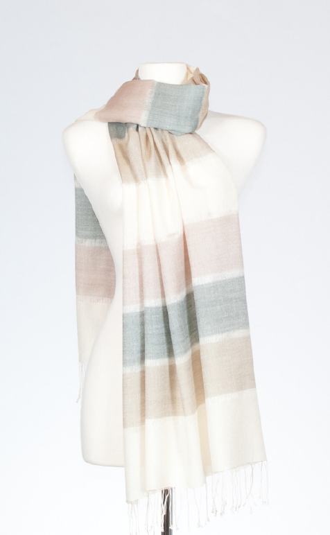 Horizon Silk Stole in Dove