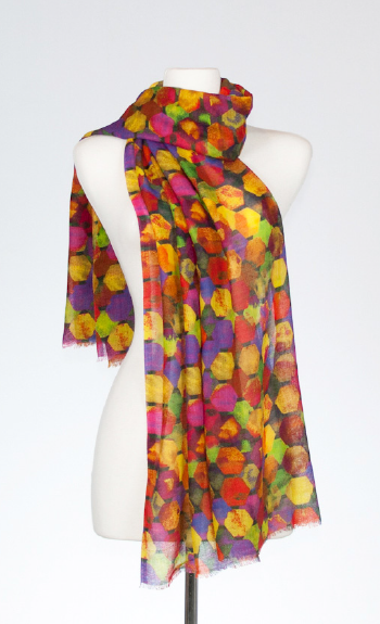 Chroma Merino and Silk Scarf