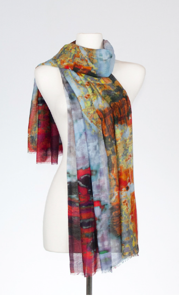 Barium Silk and Merino Scarf