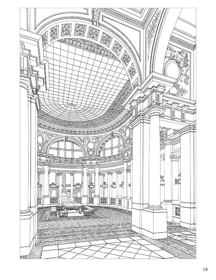 Otto Wagner Coloring Book