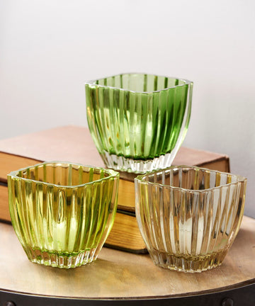Glass Tealight Holders