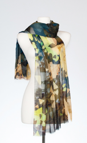 Jet-Set Merino and Silk Scarf