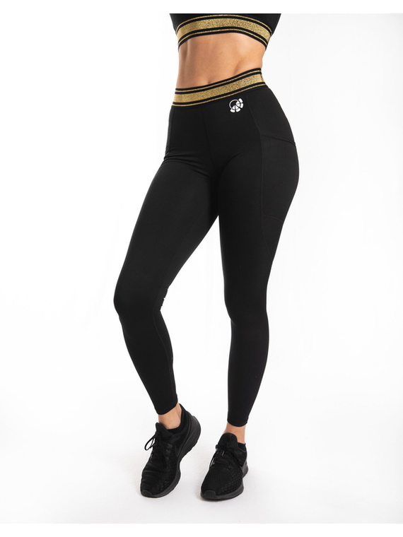 Ava Leggings - Black & Gold