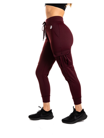 Emma Ultra Soft Joggers - Burgundy