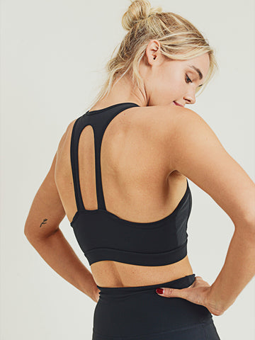 Nova Essential Sports Bra - BLACK