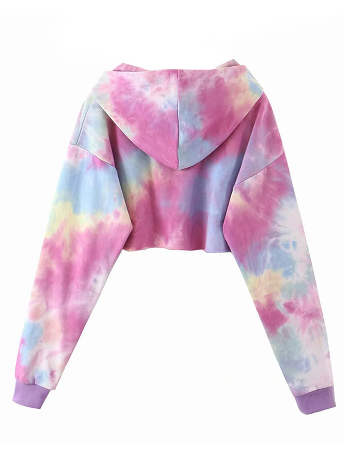 Classic Tie Dye Cropped Hoodie