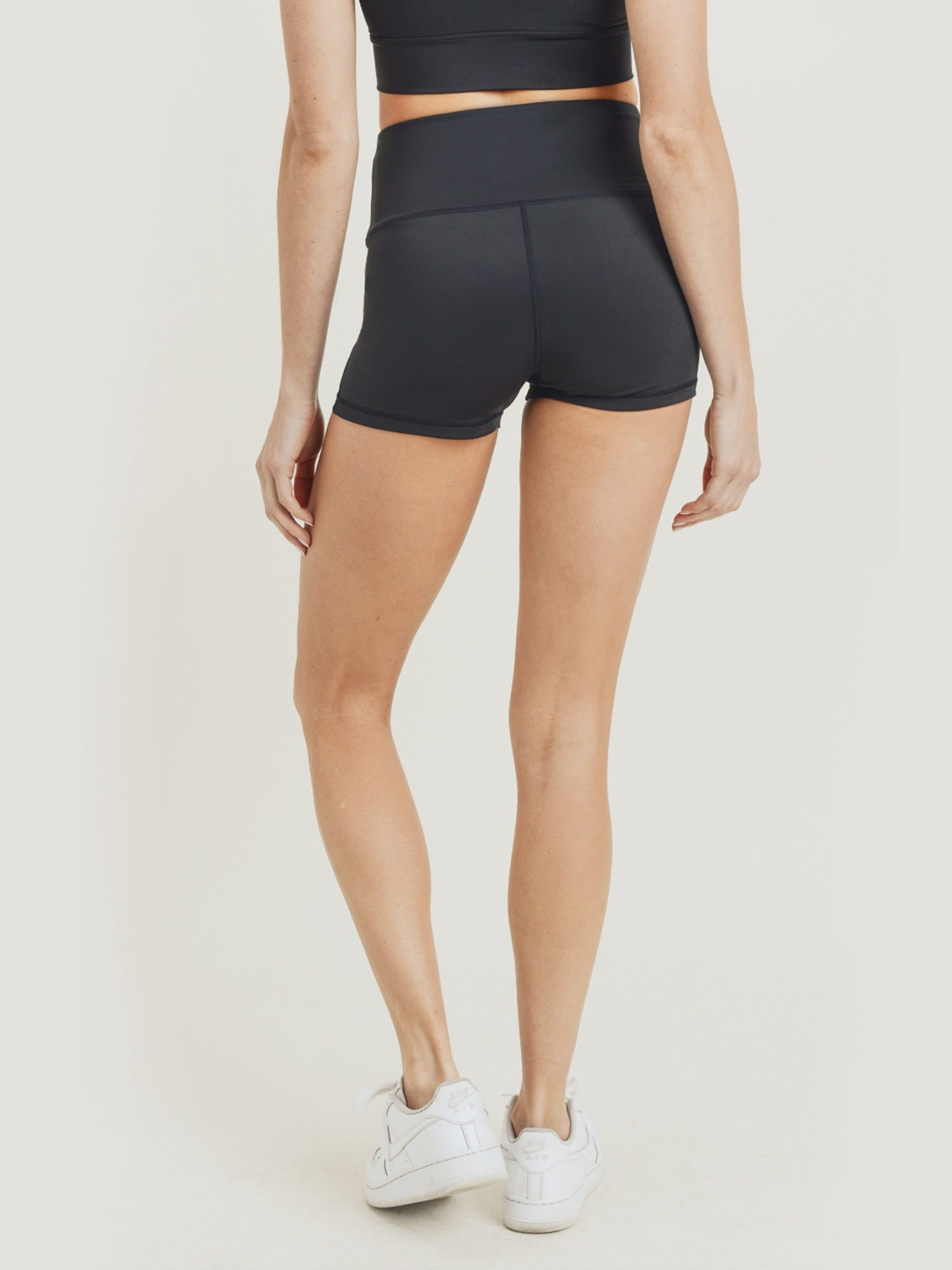 Layla Eco High Waisted Shorts - Black