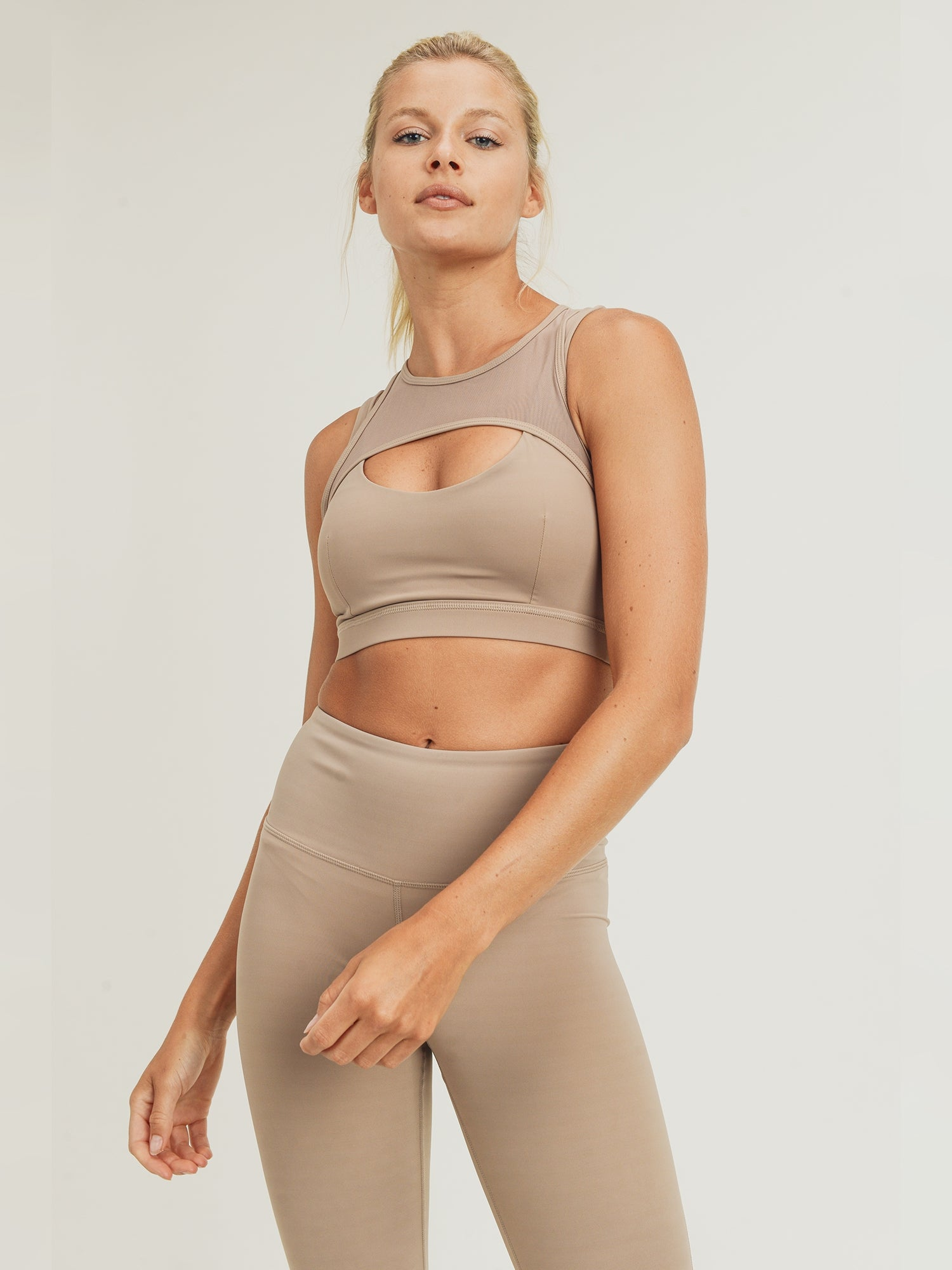 Layla Eco Harness Sports Bra - Beige