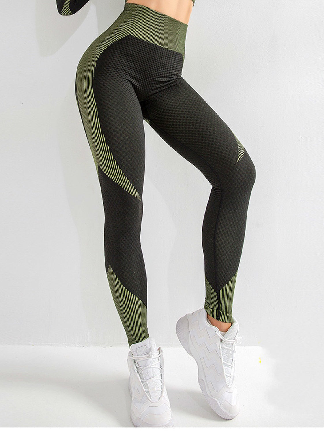 MOVI ADAPT LEGGINGS - Black/Green