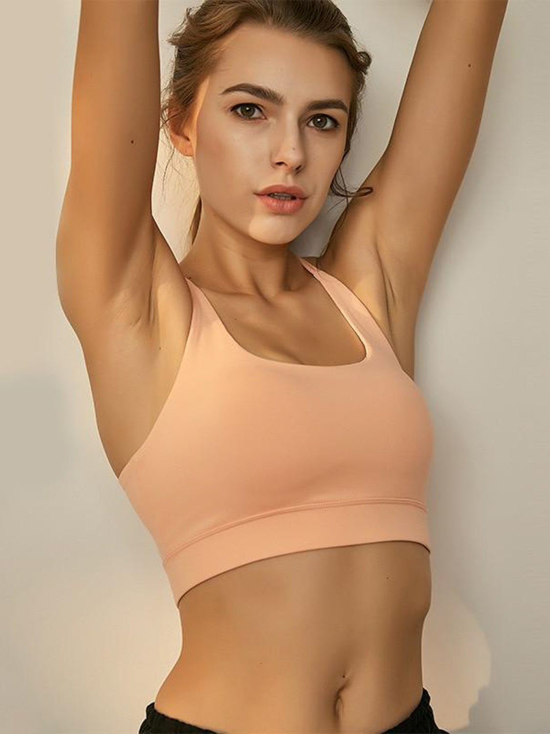 MOVI Cutaway Sports Top (Soft Peach)