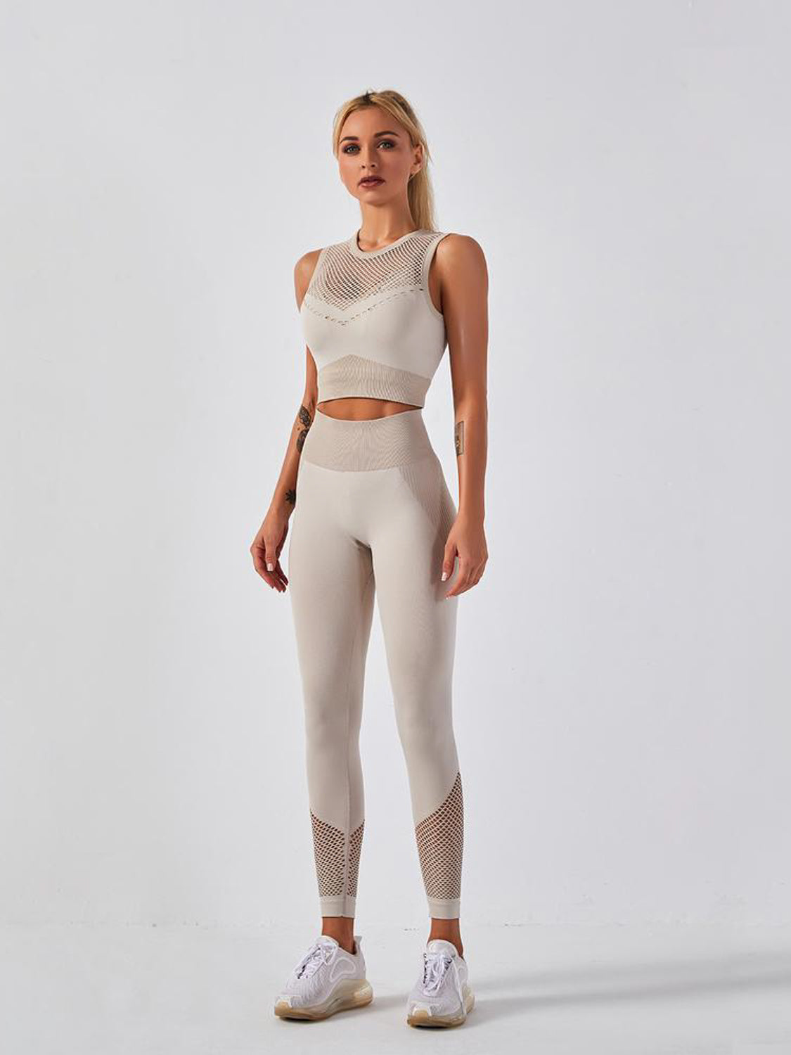 MOVI Drive Leggings - Grey/Beige