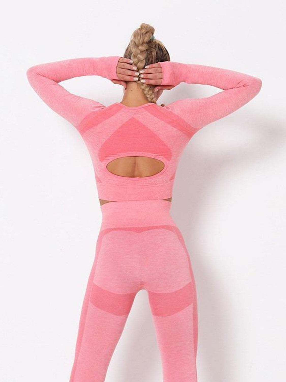 MOVI Energy Sleeved Crop - Pink