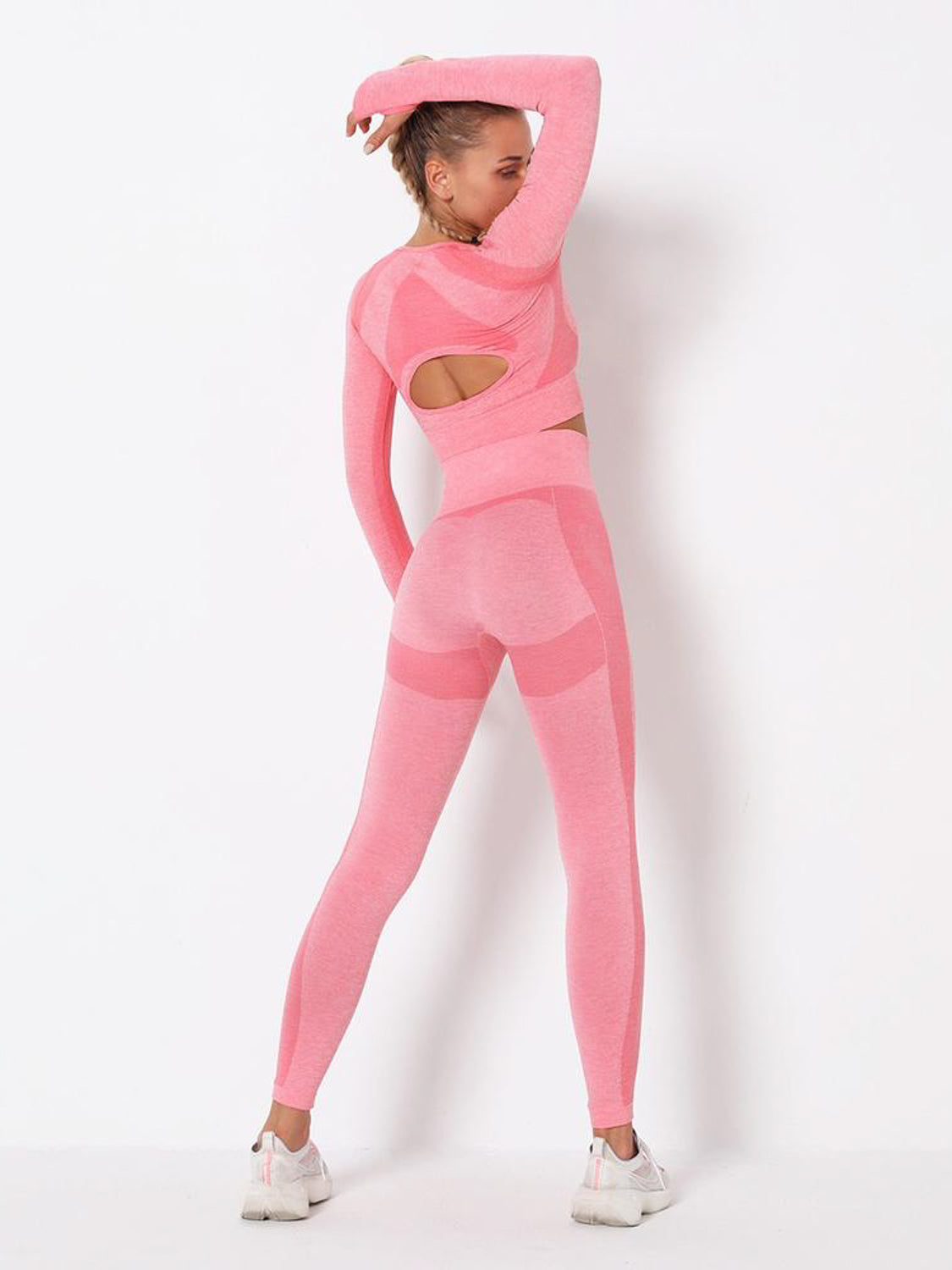 MOVI Energy Sleeved Crop in Pink