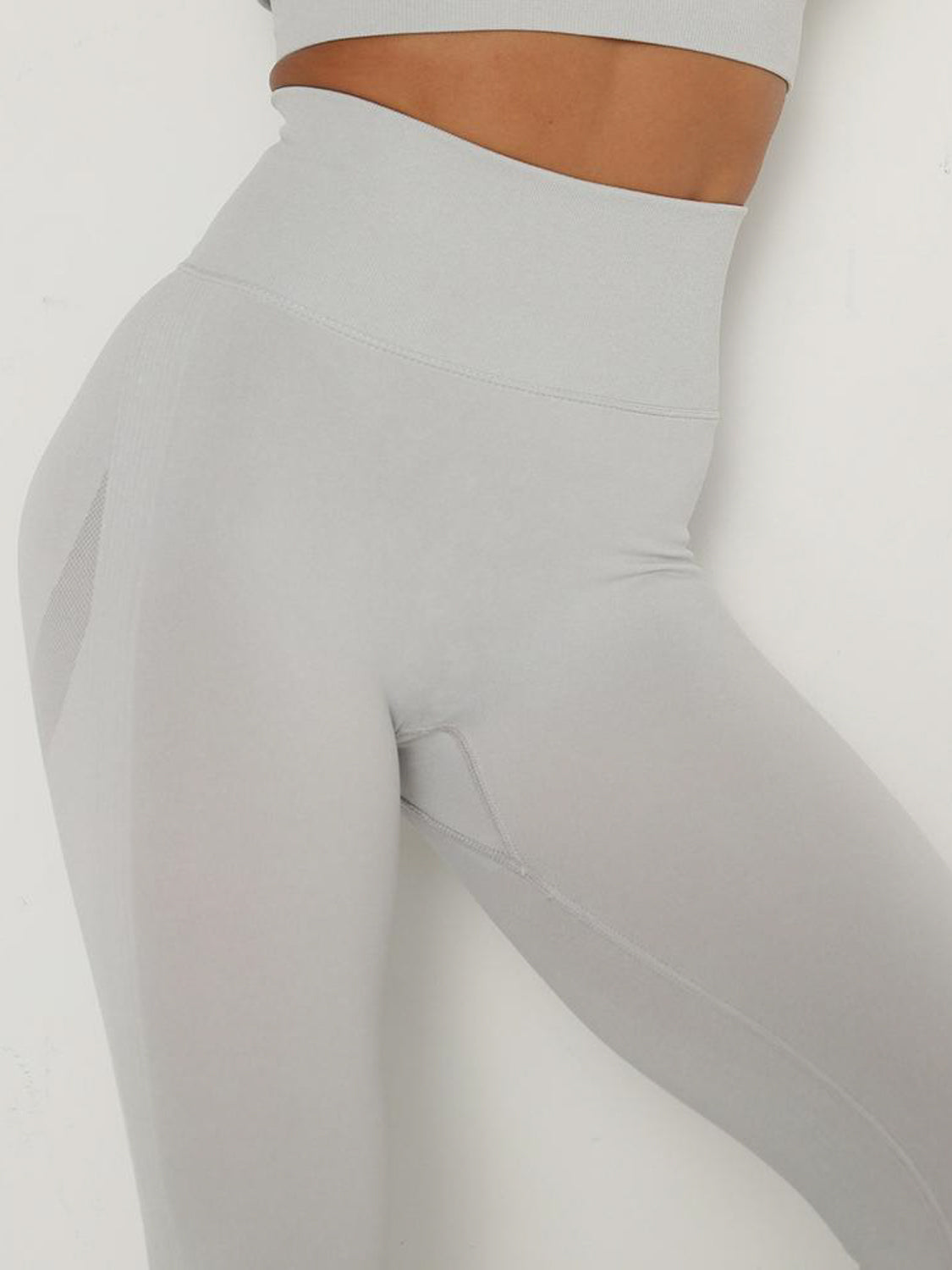 MOVI Pulse Contour Full Length Leggings - Silver