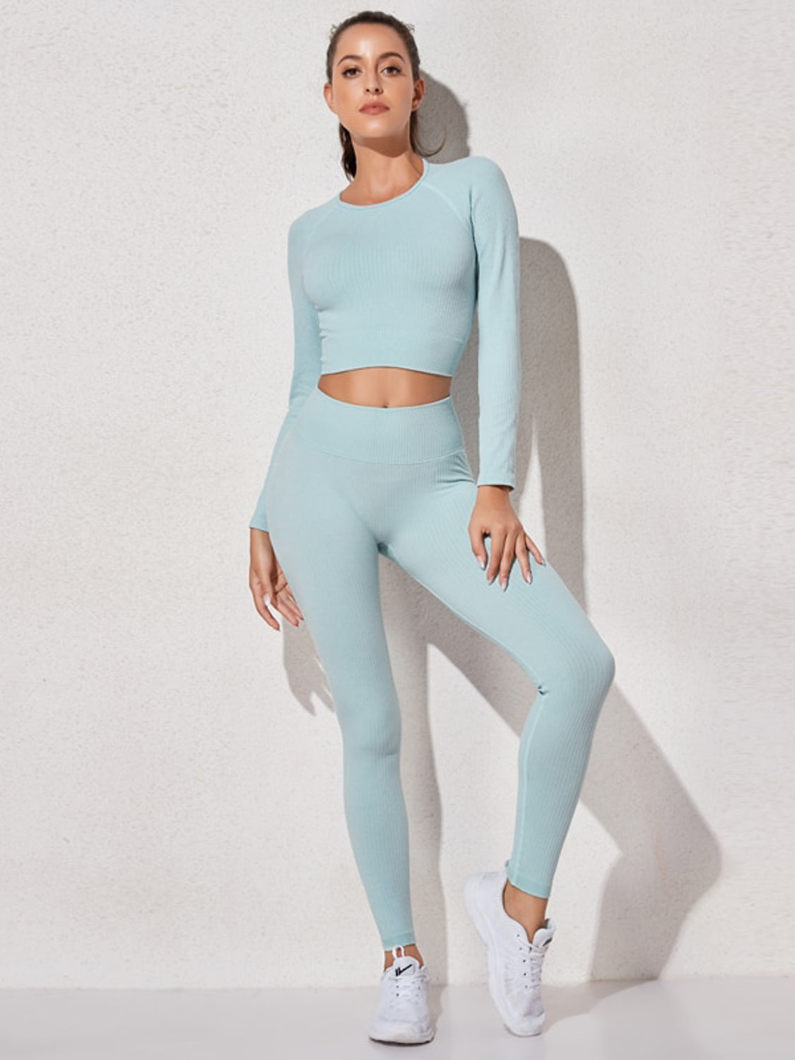 MOVI SCULPT+ RIBBED LEGGINGS (BLUE)