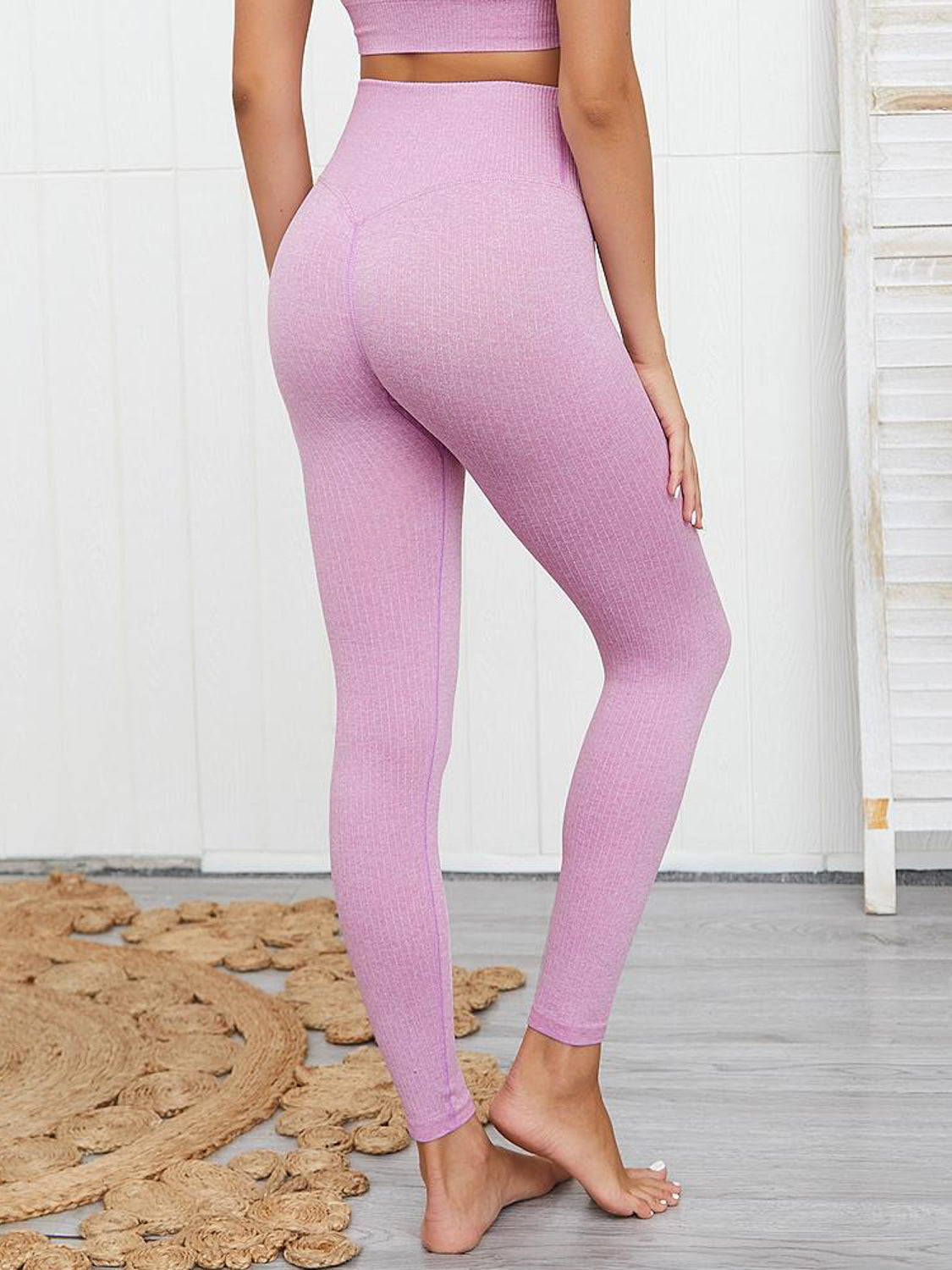 MOVI SCULPT+ Ribbed Leggings (Violet Pink)