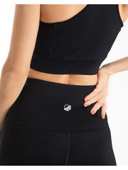Black Ultra+ Zip Sports Bra