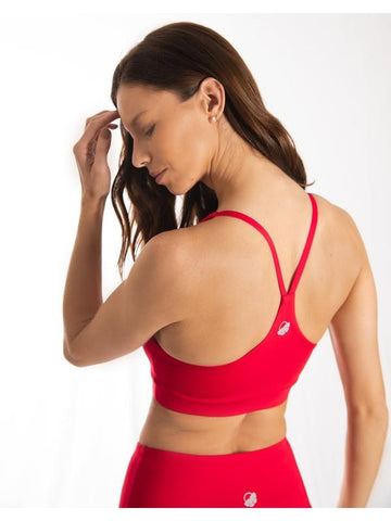 Red Ultra+ Sports Bra
