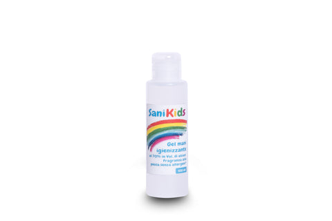 Sanikids Gel - Confezione da 100 ml con tappo flip top Box da 40